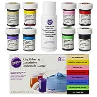 Colorantes alimentarios Wilton en súper set de 8 unidades + EXTRA: Blanco
