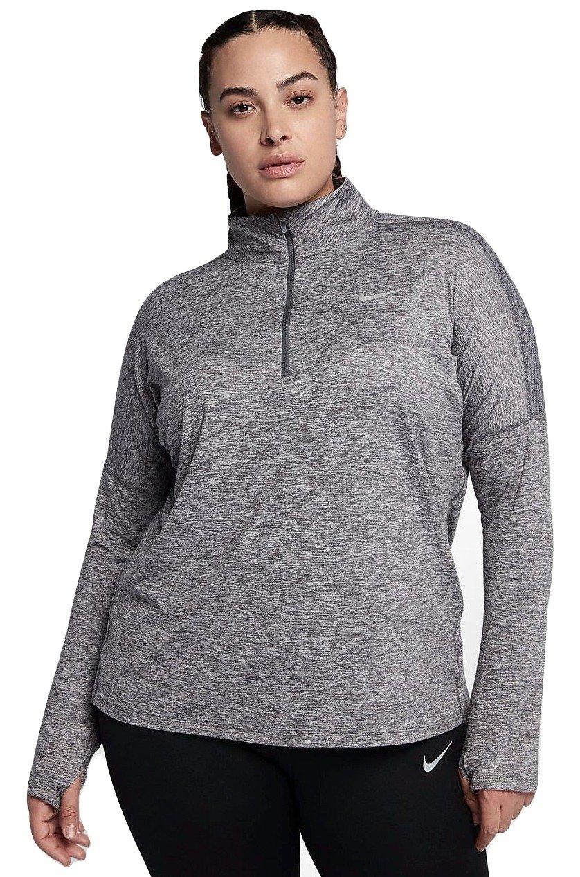 NIKE Womens Plus Running Fitness 1/4 Zip Pullover Blue 1X