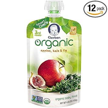 Amazoncom Gerber Organic 3rd Foods Baby Food Apples Kale Figs