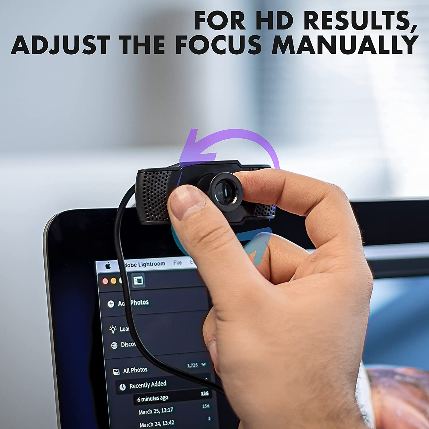 For Meetings Wired USB Camera for TV Full HD Quality Gaming 1080P USB Webcam with Built-In Microphone Conferences Laptop /& Desktop Computer Streaming Noise Cancelling Mic PC Monitor