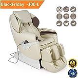 SAMSARA 2D Massagesessel – Weiß (Modell 2018) –Shiatsu Relaxsessel mit 5 Massagefunktionen- Schwerelosigkeit, Luftverdichtung und Wärmefunktion -Offizielle 2 JAHRE Garantie GLOBAL RELAX® Deutschland