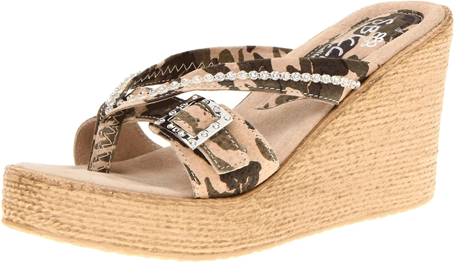 Sbicca Women's Major Wedge Sandal B00BM8MX1S 9 B(M) US|Camouflage