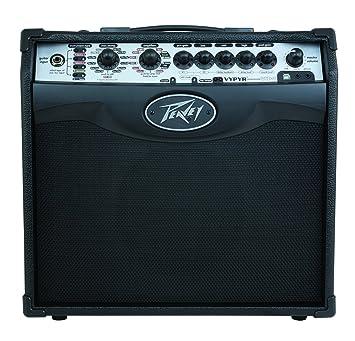 Amplificador Peavey Vypyr 1 combo de modelado acústico de guitarra/bajo negro de energía 20