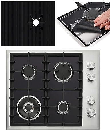 Amazoncom 5 Pack Premium Black Gas Stove Burner Covers Stove Top