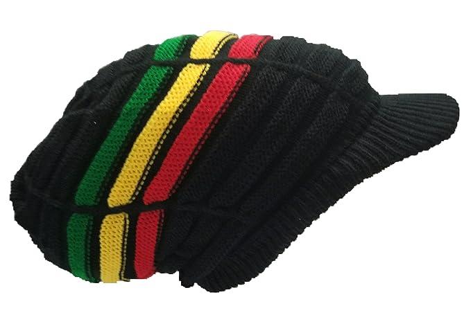 ... Rasta Hat Crown Cap Black Dread Irie Knit Beanie One Love Reggae Jamaica  ML authentic 1b081 ... 52eadf5620ac