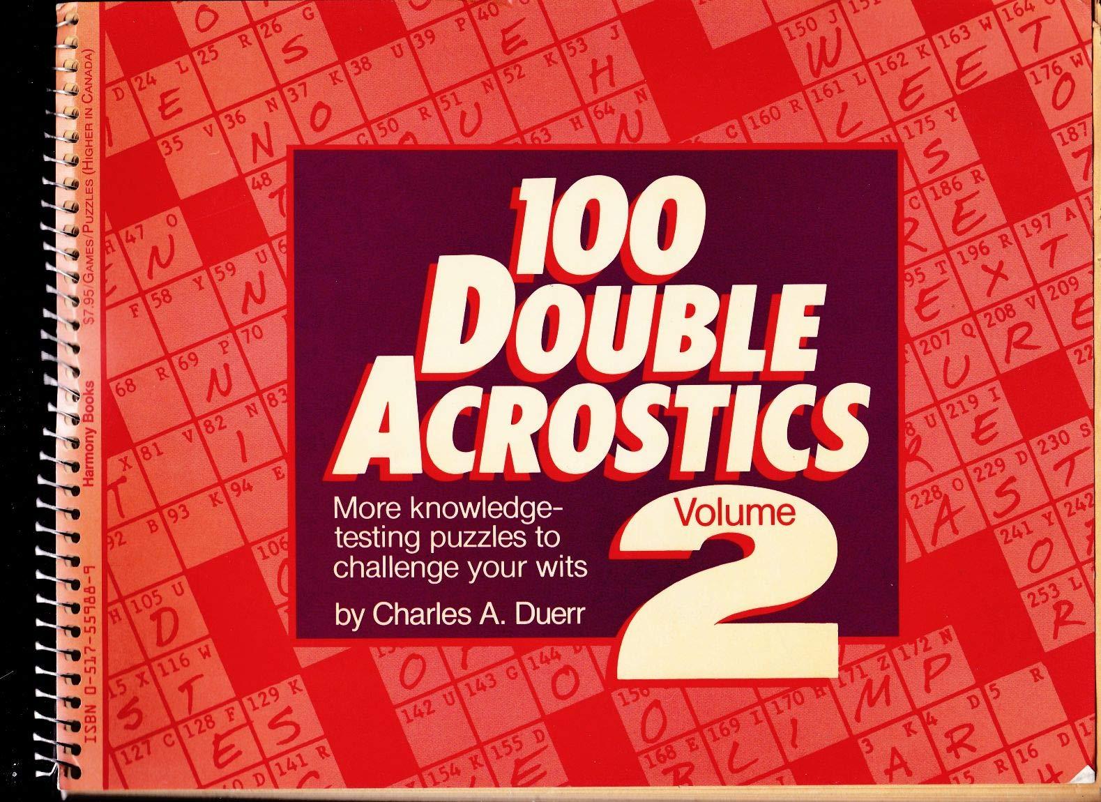 Volume 3 Random House Crostics