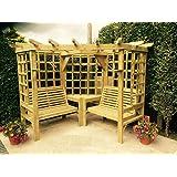 Wooden Garden Furniture Corner Arbour Garden Arbour Seat Pergola Trellis