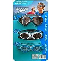 Speedo Junior Goggles para Niños de 6 a 14 Años, Unisex Paquete con 3 Piezas