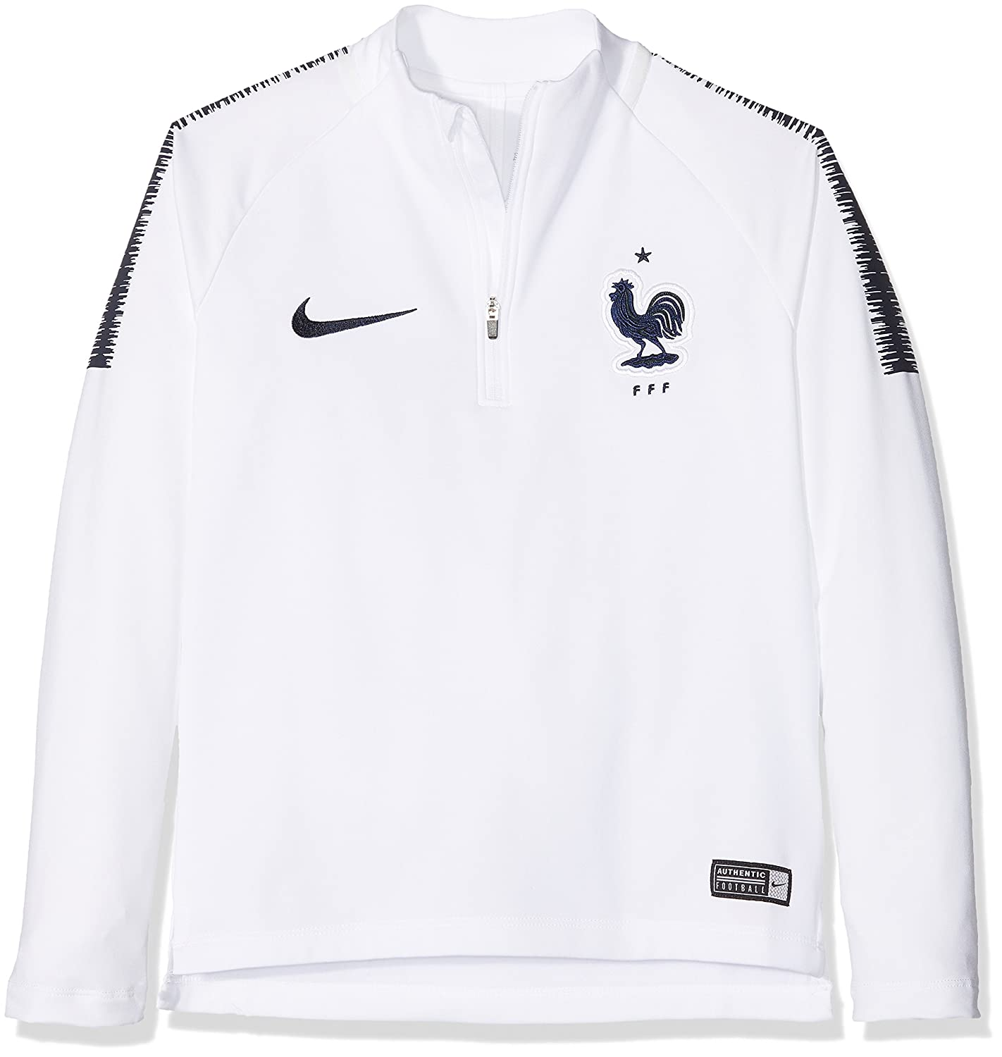 70368f47ab4 Amazon.com   Nike 2018-2019 France Training Drill Top (White) - Kids    Sports   Outdoors