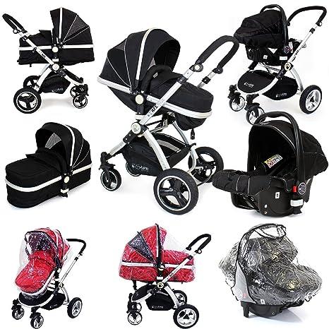 i-Safe sistema – negro Trio sistema de viaje Cochecito de bebé y silla de