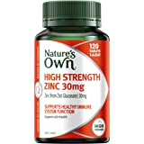 Nature's Own High Strength Zinc 30mg - Supports immune system function and healthy skin - Maintains men's reproductive…