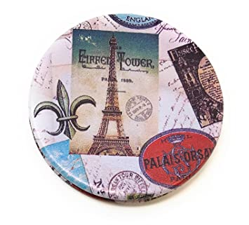 387b4e7a907f Amazon.com   Value Arts Paris France Purse Compact Travel Makeup Mirror and  Magnification