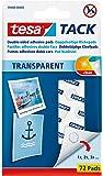 Tesa 383540 - Pastillas adhesivas reutilizables, transparente