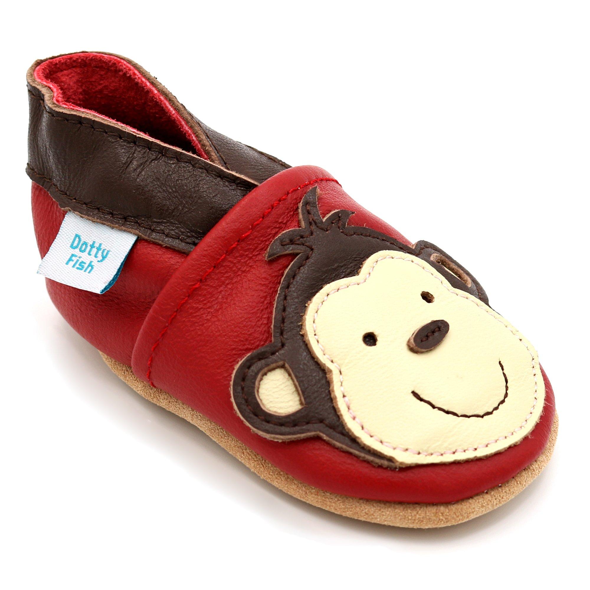 2cda2f93514d6 Dotty Fish - Chaussures Cuir Souple bébé et Bambin - Garçons - Animaux  product image