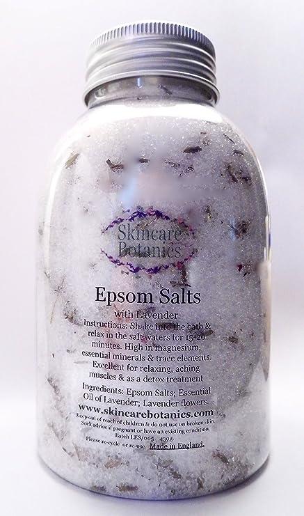 Sulfato de magnesio puro con lavanda