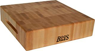product image for John Boos Block CCB183-S Classic Reversible Maple Wood End Grain Chopping Block, 18 Inches x 18 Inches x by 3 Inches