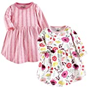 Touched by Nature Baby Organic Cotton Dress, 2 Pack, Botanical, 18-24 Months