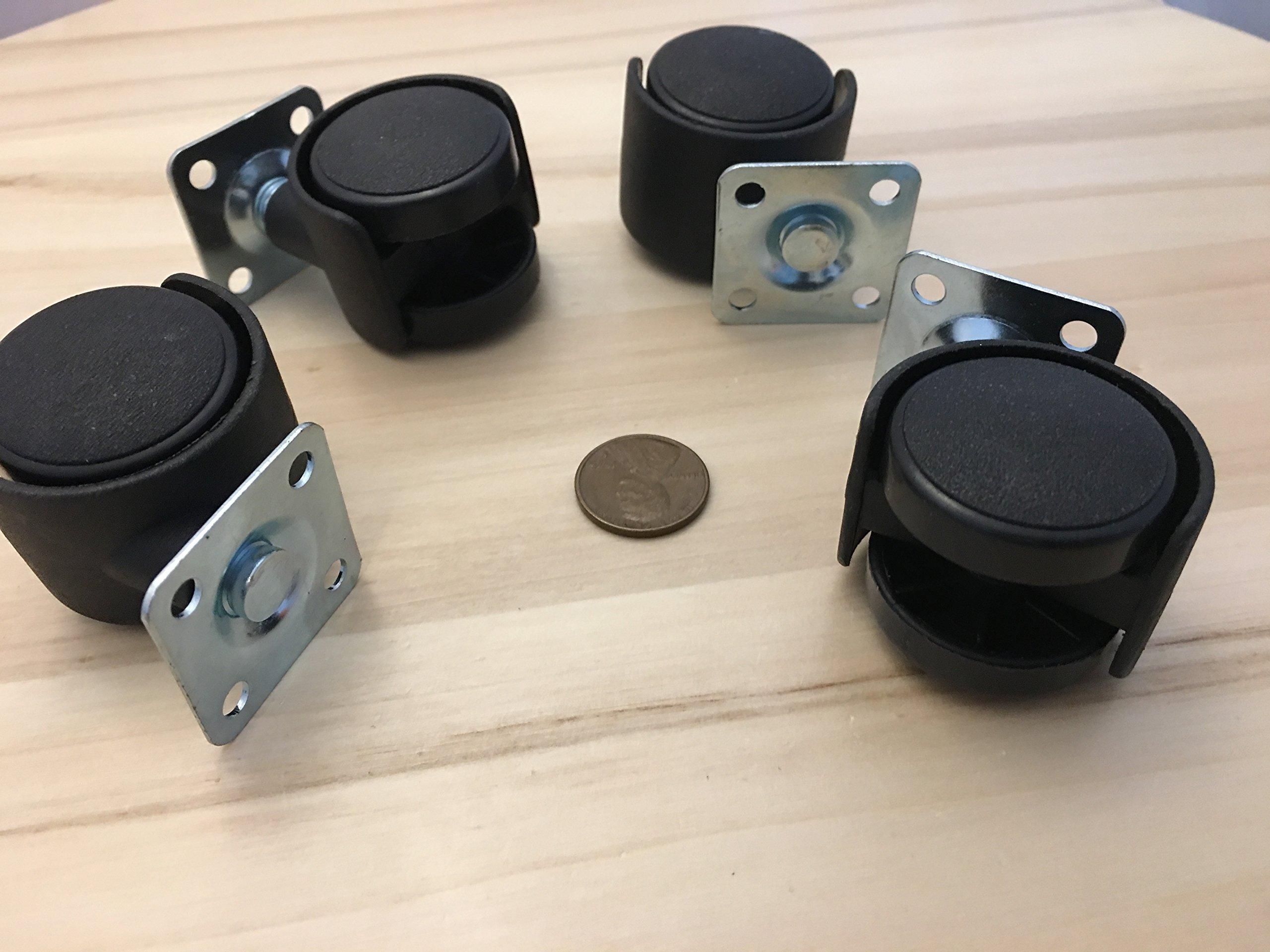 4 Pieces Small Swivel Caster Wheel robot platform office chair 30mm C22