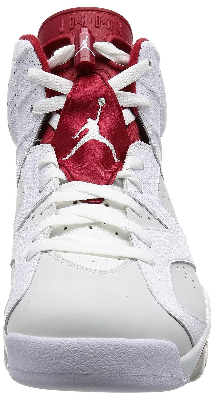 reputable site b304f 25b28 Nike - Air Jordan 6 Retro, Scarpe Scarpe Scarpe Sportive Uomo B003KG05O2 46  EU bianca, Gym rosso-pure Platinum ...