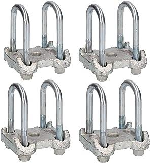 8u-tornillo&4placa base para Ifor Will remolque hoja parabólico gemelo resorte AB Tools