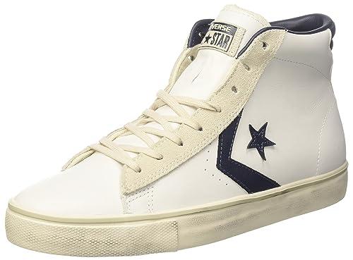 Converse Lifestyle Pro Lthr Vulc Mid, Zapatillas para Hombre: Amazon.es: Zapatos y complementos