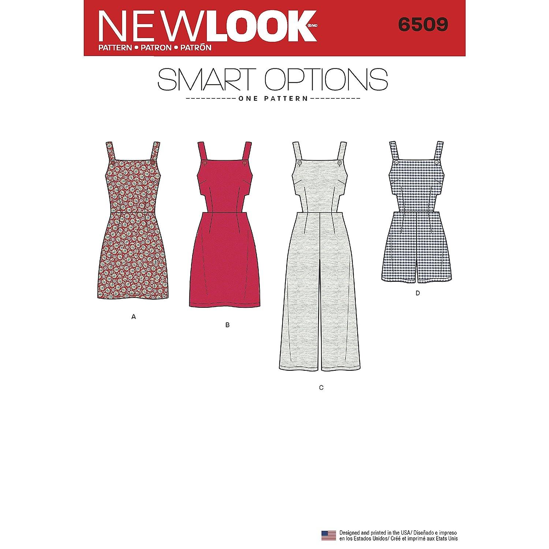 Simplicity New Look Jersey de Las Mujeres de/Pelele/Vestido con corpiño patrón de Costura, Color Blanco: Amazon.es: Hogar