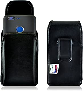 product image for Turtleback Holster Made for Google Pixel Black Vertical Belt Case Leather Pouch with Executive Belt Clip Made in USA