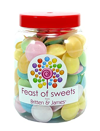 Flying Saucers 150g Big Feast Of Sweets Jar By Britten