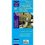 Top25 3344OT ~ St-Maximin-la-Ste-Baume carte de randonnée avec une règle graduée gratuite