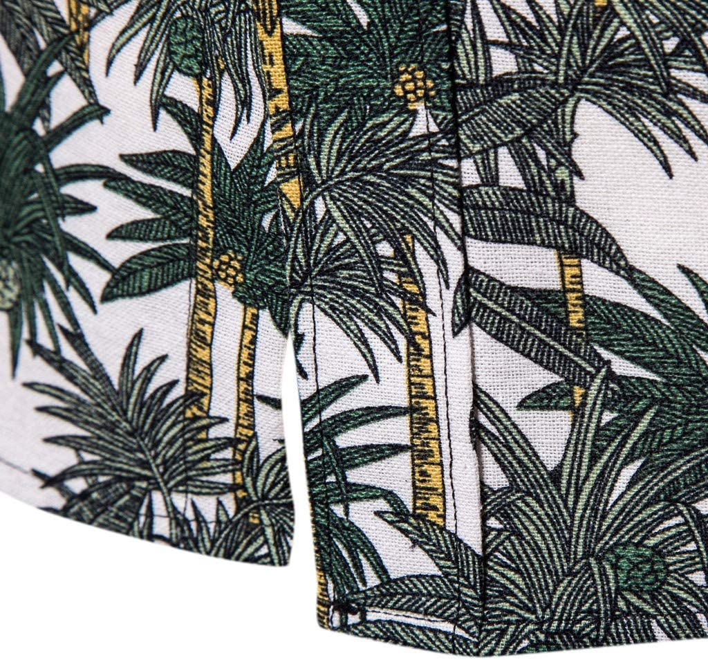 Fashion Business Leisure Slim Fit Printing Long-sleeve Shirt Top Blouse XXL, Multicolor Mens Shirt