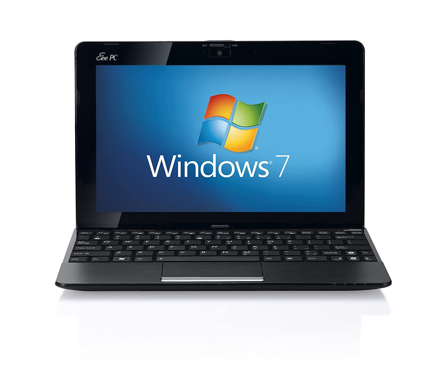 ASUS Eee PC 1015P 10.1 inch netbook (Intel Atom N450 1.66GHz, 1GB RAM,  160GB HDD, WLAN, Webcam, Up to 11hrs battery life, Windows 7 Starter) -  Black: ...