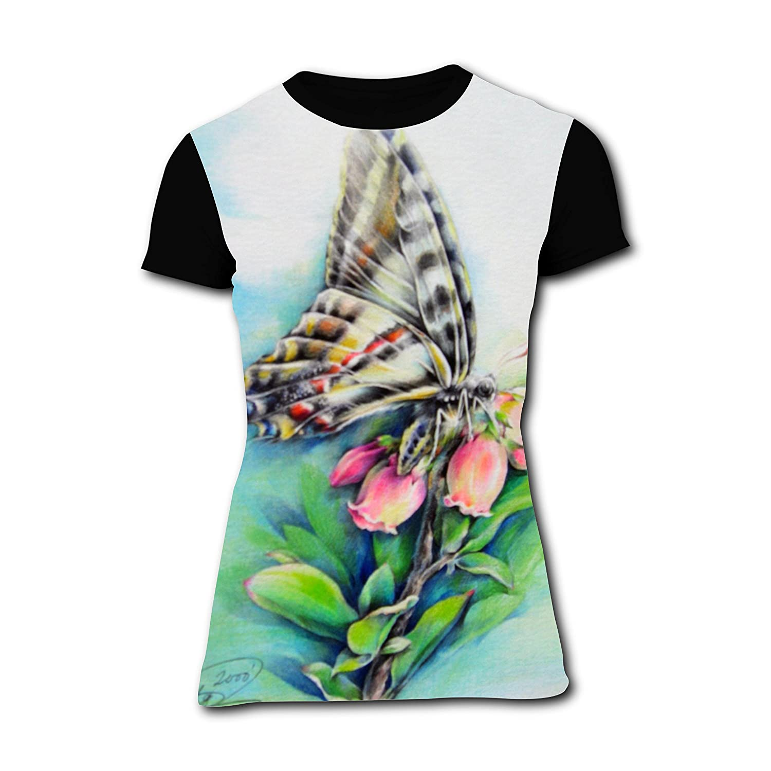 Amazon New Sports T Shirt Design With Butterfly For Girlfriend