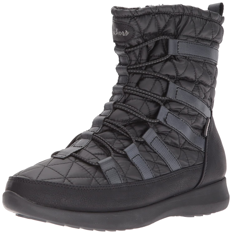 Skechers Damen Boulder-East Stone Schneestiefel  41 EU|Schwarz (Black Blk)