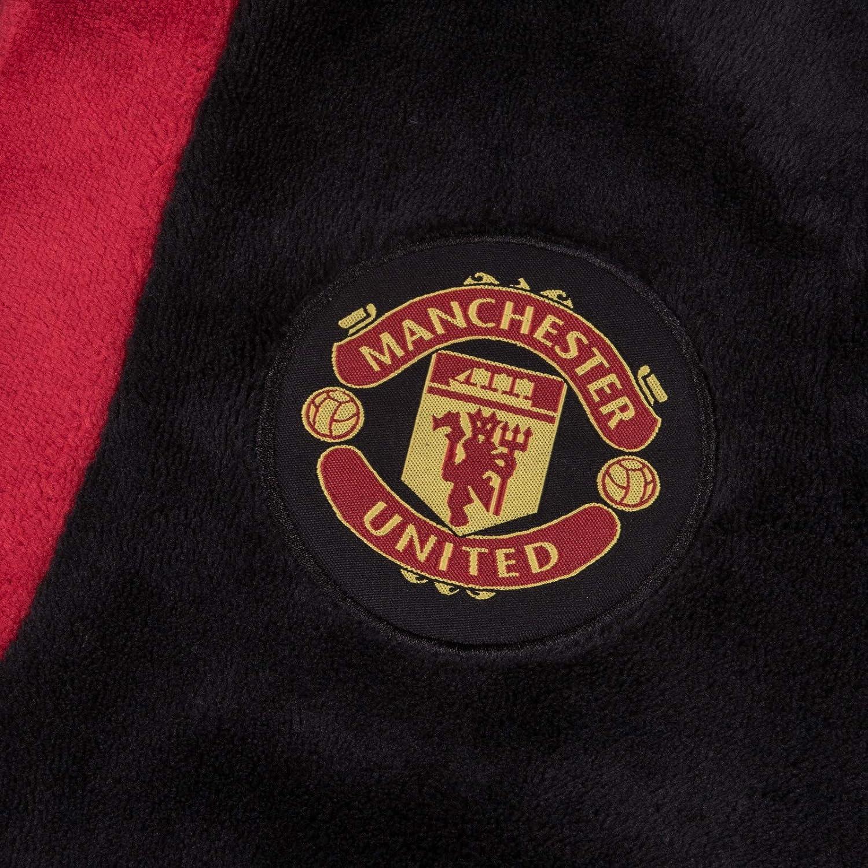 Forro Polar para ni/ño Manchester United FC Bat/ín Oficial con Capucha