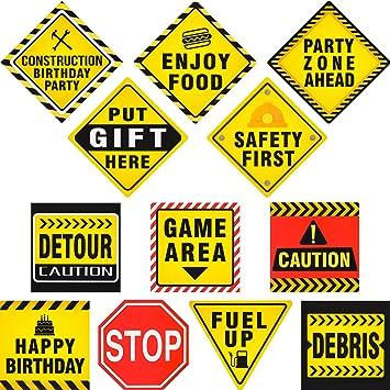 Amazon.com: 12 piezas de carteles de tráfico, carteles de ...