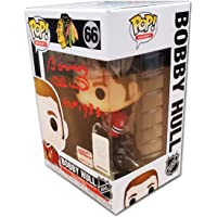 $80 » Bobby Hull Autographed Funko Pop! - Chicago Blackhawks - HOF 1983 Inscription
