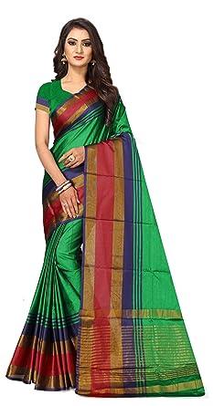 dff21988aeb9b1 Shreeji Designer Women s Cotton Silk Fabric Top Dyed Saree With Blouse Piece  SD-2238-