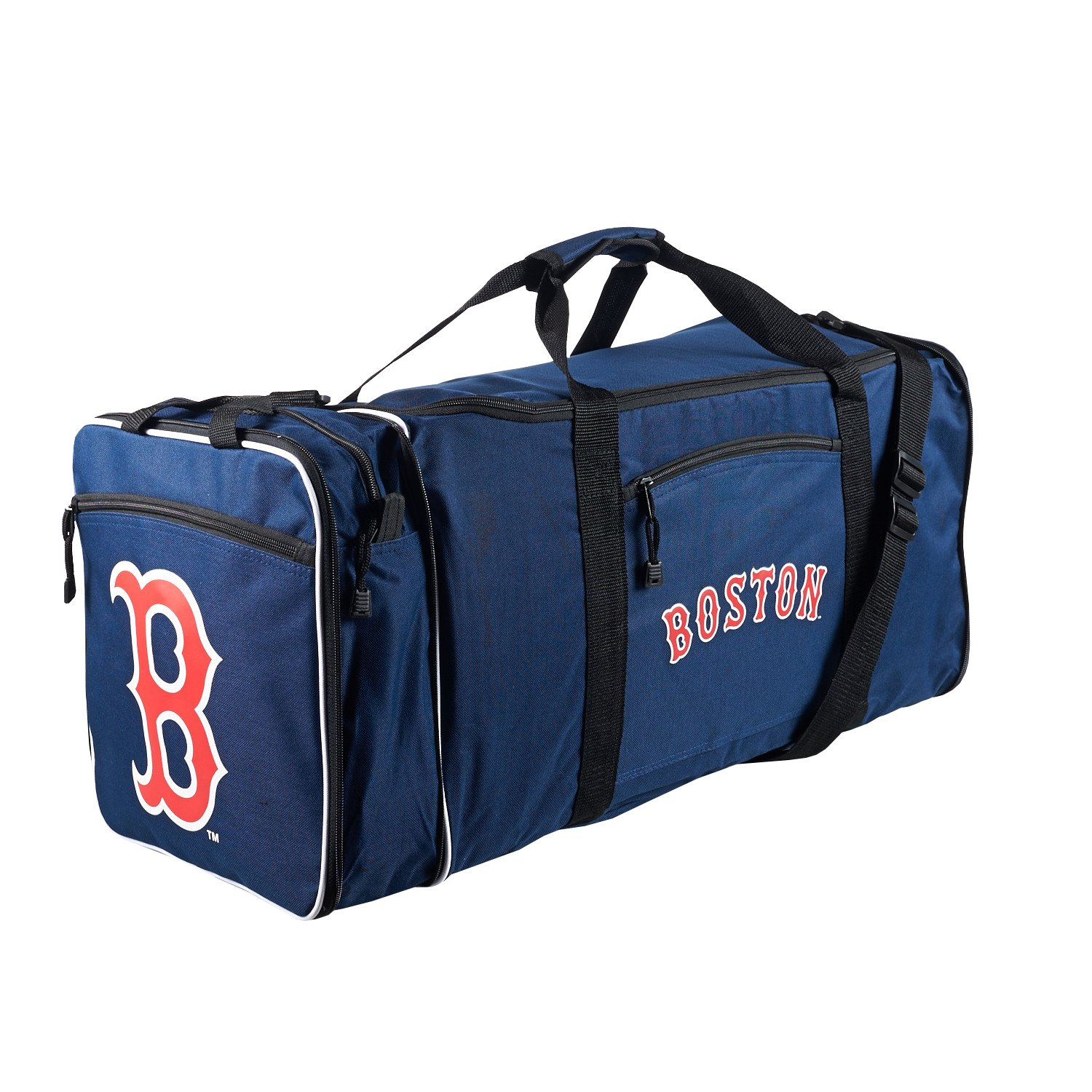 Concept One Accessories Officially Licensed MLB Boston Red Sox Steal Duffel bag, 28'' x 11'' x 12''