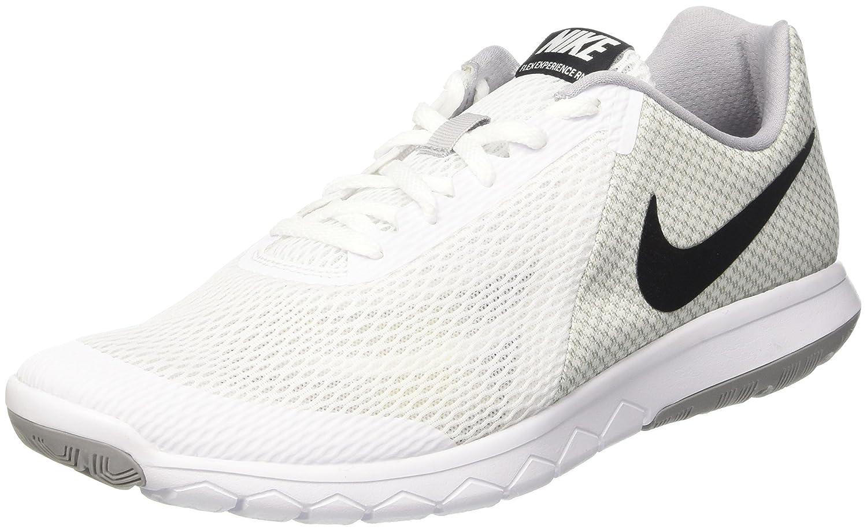 Nike Flex Experience RN 6, Zapatos para Correr para Hombre 41 EU|Multicolor (White/Black/Wolf Grey)