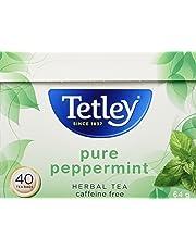 Tetley Pure Peppermint Herbal Tea, 40 Count