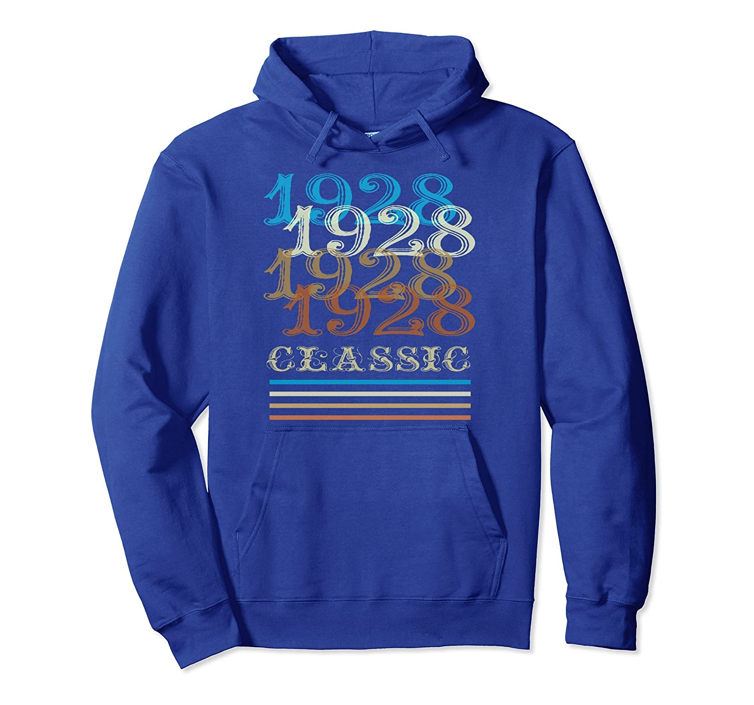 1928 Hoodie Classic Vintage Retro Cool 90th Birthday Gifts-anz