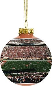 "Team Beans NCAA Panoramic Team Stadium Glass Ball Christmas Tree Ornament-2 5/8"""