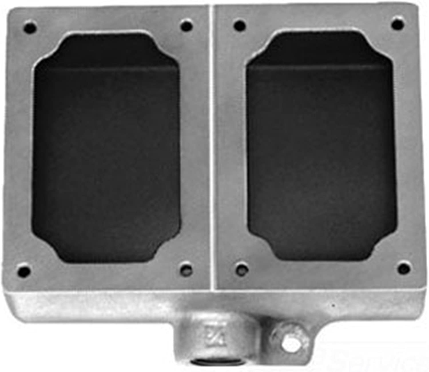 Crouse-Hinds EDS272 3//4-Inch Two Gang Feraloy Device Box