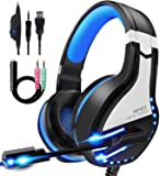 NPET HS10 Stereo Gaming Headset for PS4, PC, Xbox One Controller, Noise Cancelling Over-Ear Headphones with Mic, Soft…