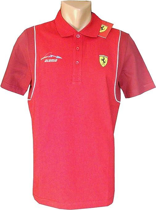 Ferrari/Fórmula 1 – Mens Santander Alonso Polo Camiseta – Rojo, hombre, rojo, large: Amazon.es: Deportes y aire libre