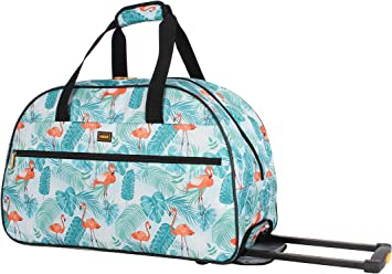 Cats Hearts Travel Carry-on Luggage Weekender Bag Overnight Tote Flight Duffel In Trolley Handle