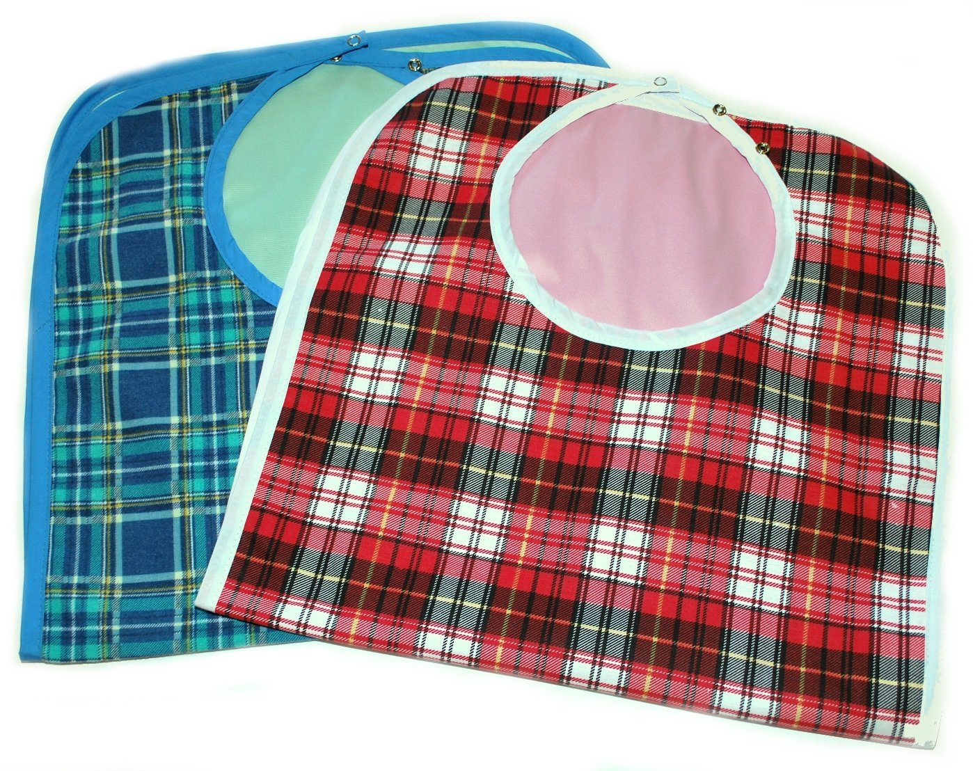 Large Extra Long, Reusable, Machine washable, Washable Clothing Spill, Mealtime Protector, Waterproof Ladies & Men Adult Sized Bib (Pk/2)