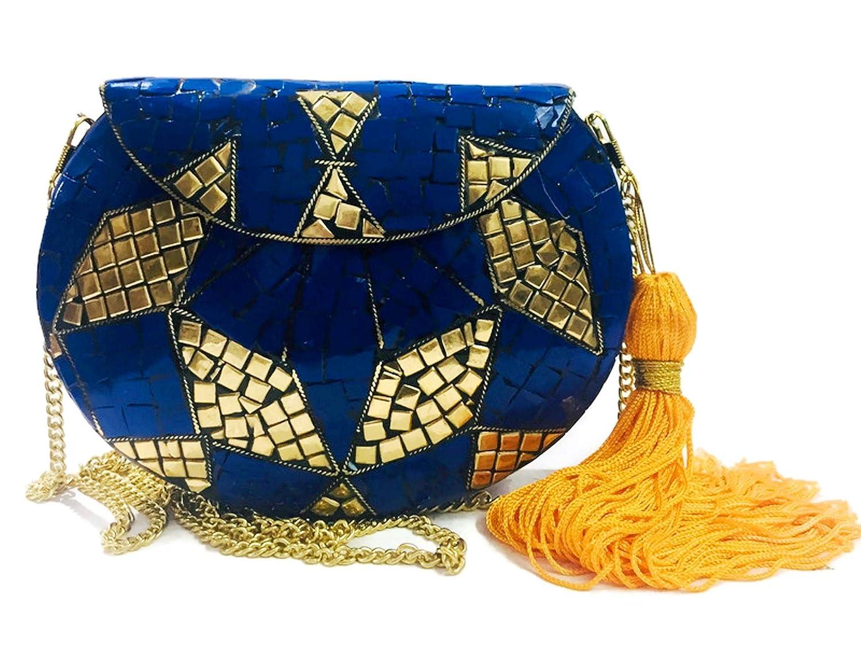 Tasseled BlueStone Sling Bag