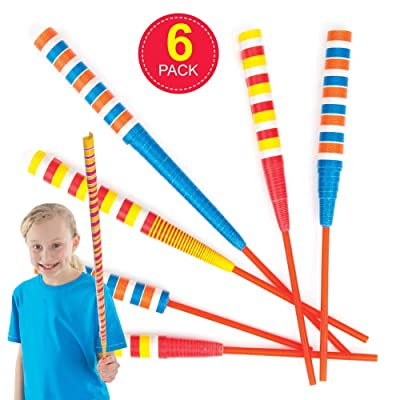 Baker Ross Paper Sword Flickers, Paper Wands for Kids Party Bag Fillers and Party Favors for Boys & Girls (Pack of 6): Toys & Games