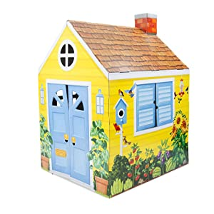 "Melissa & Doug Country Cottage Indoor Playhouse (Role-Play Center, Sturdy Construction, 54"" H x 39"" W x 33.4"" L, Great Gift for Girls and Boys - Best for 3, 4, 5 Year Olds and Up)"